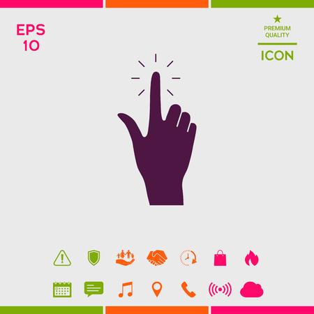Hand click, icon