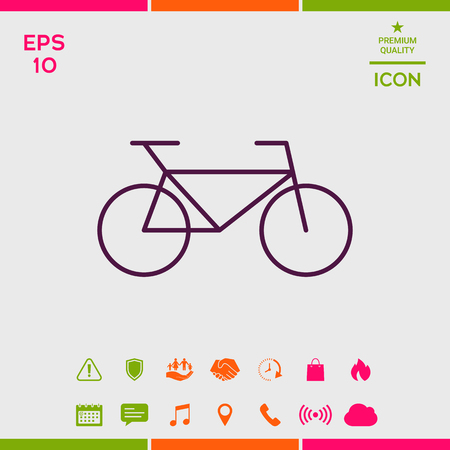 Bicycle line icon 向量圖像