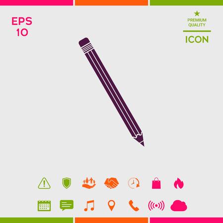 Pencil icon symbol