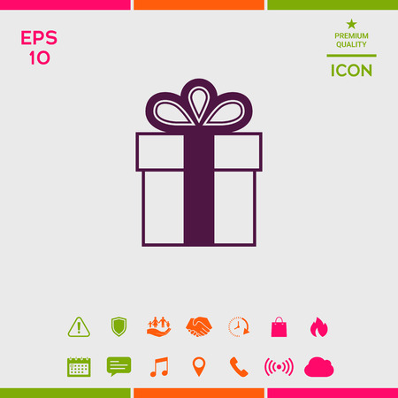 Gift box symbol icon. Иллюстрация