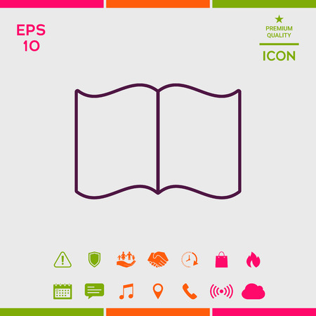 Open book symbol icon