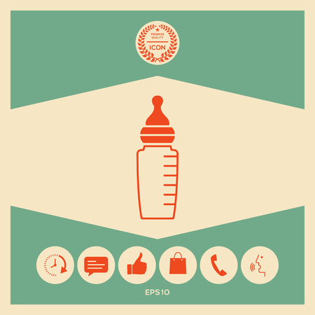 Baby feeding bottle icon Stock fotó