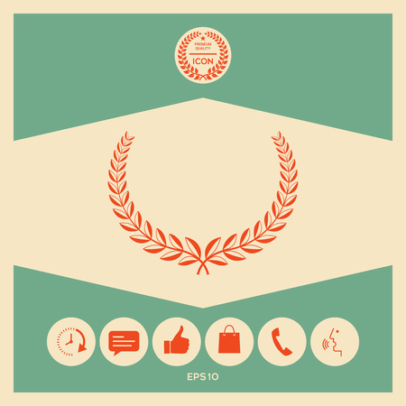 Laurel wreath. Element for yor design