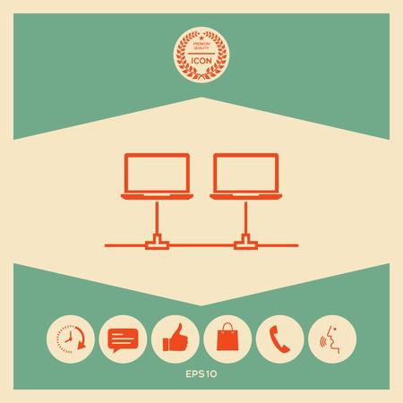 Computer network Icon Reklamní fotografie