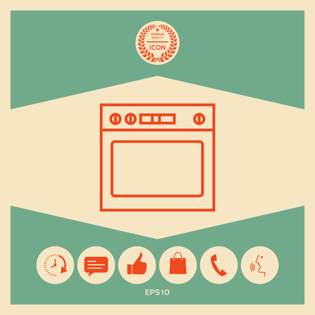 Oven linear icon
