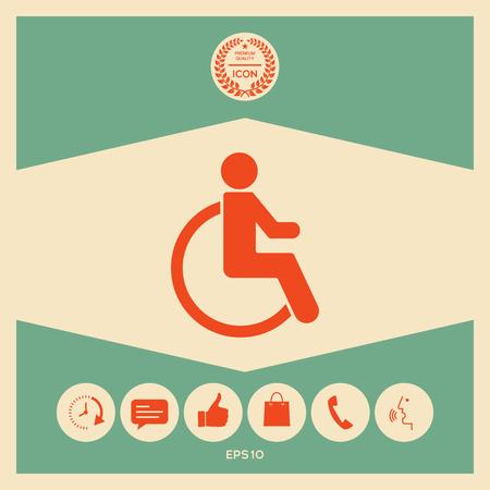 Rolstoel handicap pictogram