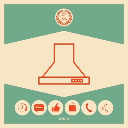 Kitchen hood linear icon