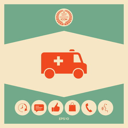 Ambulance symbol icon