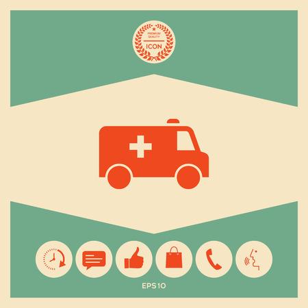 Icono de símbolo de ambulancia