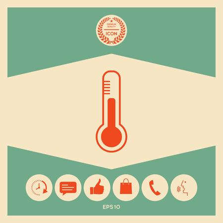 Thermometer icon. symbol
