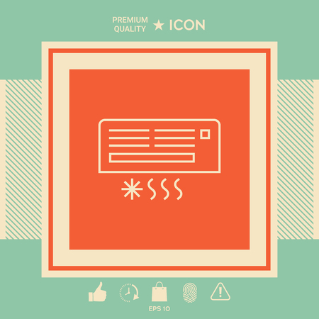 Air conditioning icon. Element for your design. . Signs and symbols - graphic elements for your design