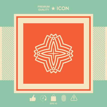 Geometrisch Arabisch patroon. Logo voor uw ontwerp
