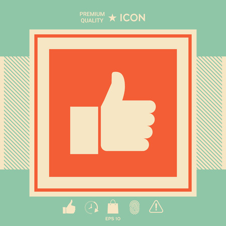 Thumb up gesture . Signs and symbols - graphic elements for your design