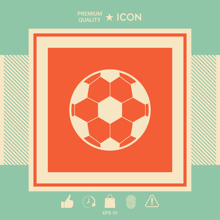 Football symbol. Soccer Ball Icon