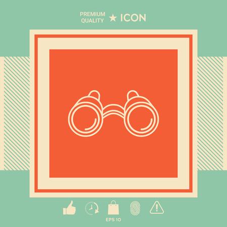 Binoculars line icon 矢量图像