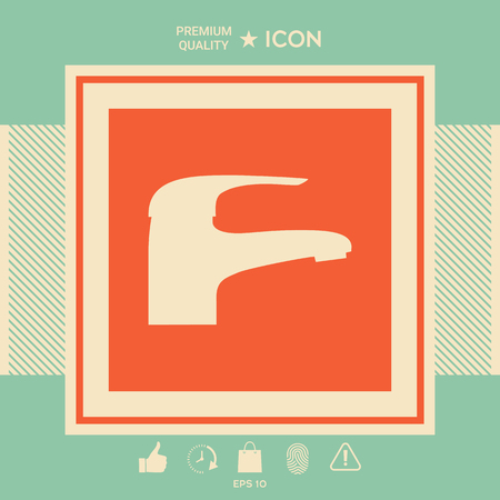 Modern Faucet icon Illustration
