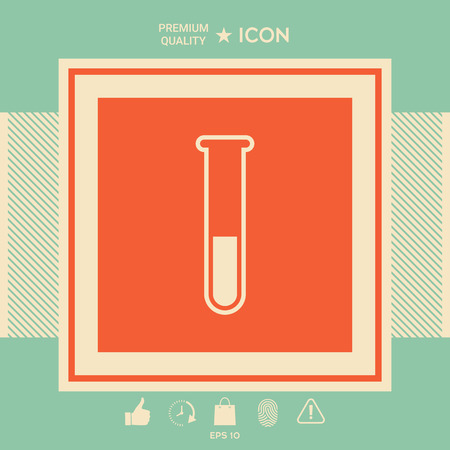 Test-tube icon . Signs and symbols - graphic elements for your design Illustration