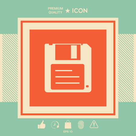 Floppy disk icon . Signs and symbols - graphic elements for your design