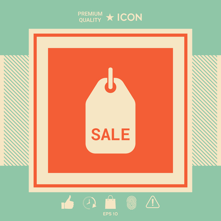 Sale tag . Signs and symbols - graphic elements for your design