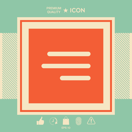 Modern hamburger menu icon for mobile apps and websites . Signs and symbols - graphic elements for your design