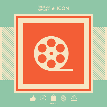 Reel film symbol icon