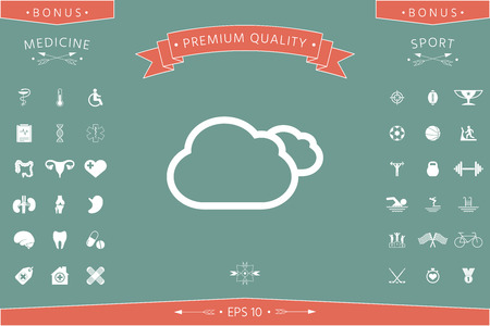 Clouds line icon. Element for your design . Signs and symbols - graphic elements for your design