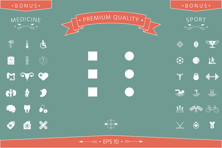 Menu icon for mobile apps and websites . Signs and symbols - graphic elements for your design Illustration