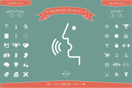 Voice control, person talking - icon . Signs and symbols - graphic elements for your design Illustration