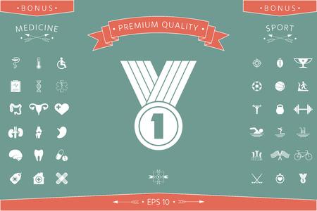 Medal Icon  symbol  イラスト・ベクター素材