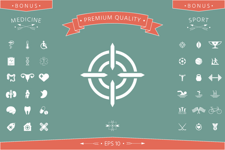 Aim icon symbol. Element for your design. . Signs and symbols - graphic elements for your design