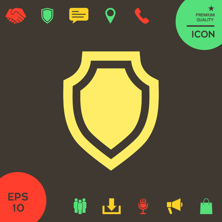 Shield - protection icon . Signs and symbols - graphic elements for your design