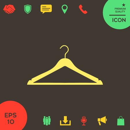 Clothes Hanger icon. Element for your design . Signs and symbols - graphic elements for your design Banque d'images - 121828440