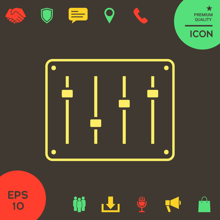 Sound mixer console icon . Signs and symbols - graphic elements for your design Banque d'images - 121828451