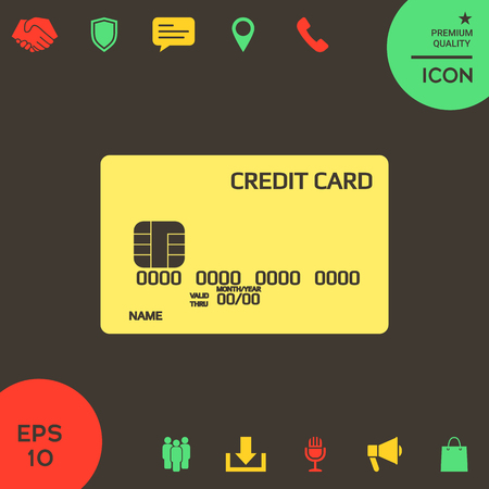 Credit card icon. Element for your design . Signs and symbols - graphic elements for your design Banque d'images - 121828468