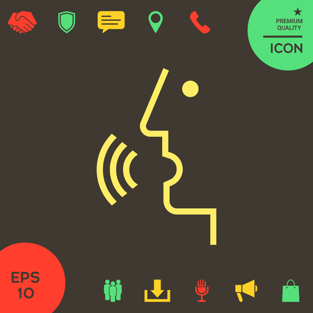 Voice control, person talking - icon . Signs and symbols - graphic elements for your design Banque d'images - 121828469