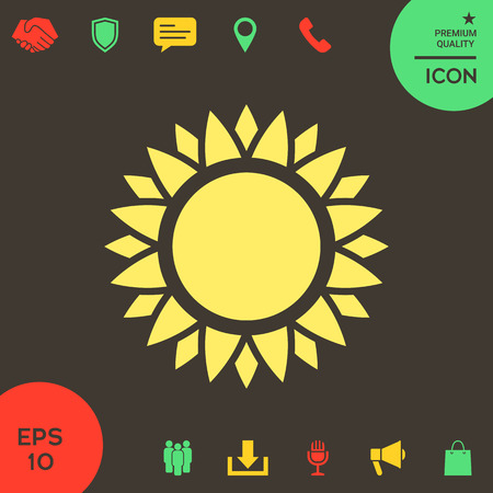 Sun icon . Signs and symbols - graphic elements for your design Banque d'images - 121828471