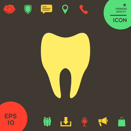 Tooth symbol silhouette . Signs and symbols - graphic elements for your design Banque d'images - 121828472