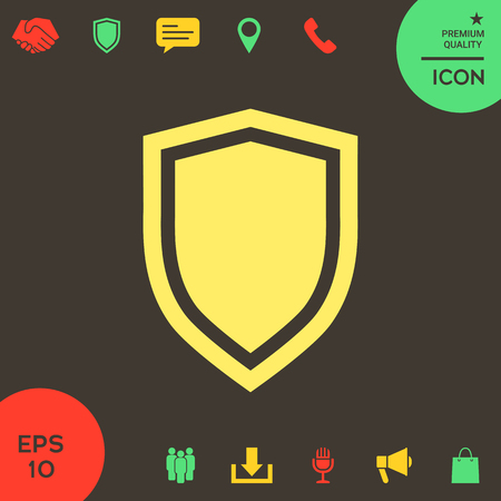 Shield, protection icon . Signs and symbols - graphic elements for your design Illustration