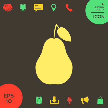 Pear icon . Signs and symbols - graphic elements for your design Banque d'images - 121828491