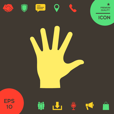 Helping hand silhouette- icon . Signs and symbols - graphic elements for your design Banque d'images - 121828504