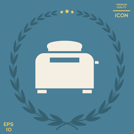 Toaster Oven icon . Signs and symbols - graphic elements for your design