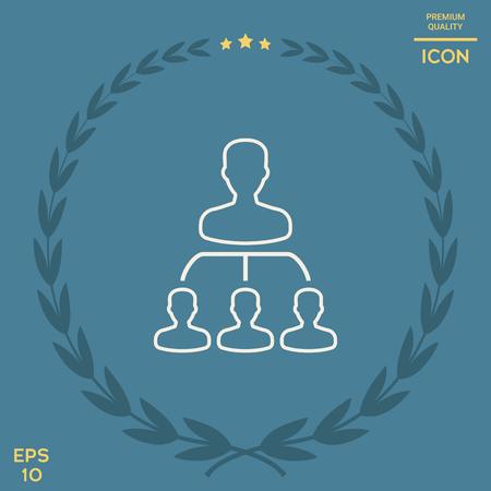 Hierarchy - line icon