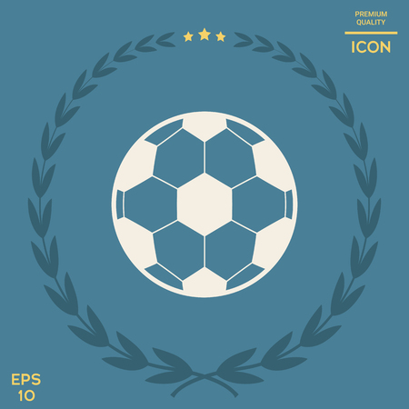 Football symbol. Soccer Ball Icon . Signs and symbols - graphic elements for your design