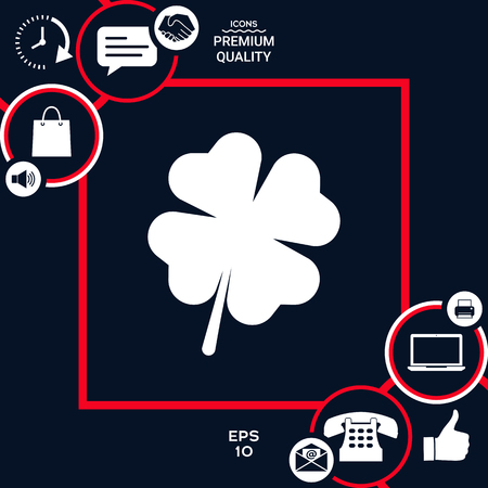 Clover with four leaves. Element for your design . Signs and symbols - graphic elements for your design Illustration
