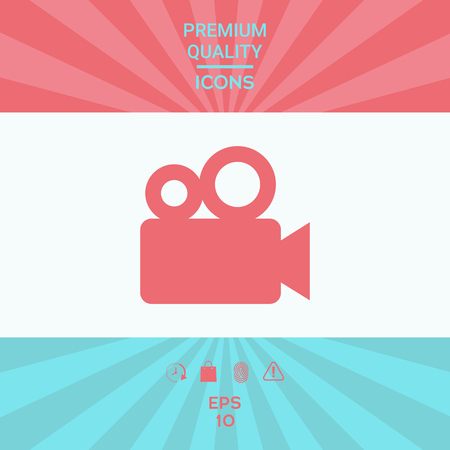 Movie camera icon . Signs and symbols - graphic elements for your design Illustration