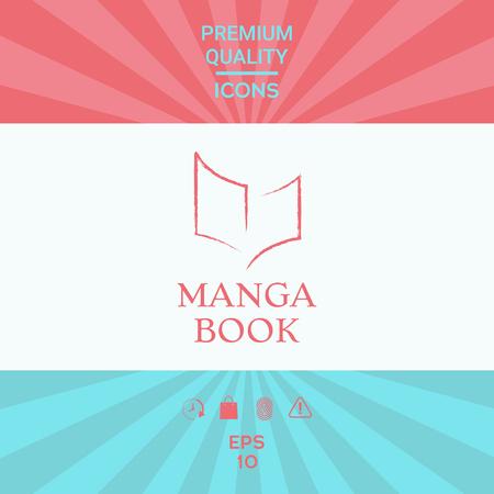 Elegant logo with book symbol like dry brush stroke Ilustrace