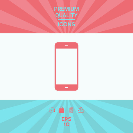 Business Phone with blank screen Illustration
