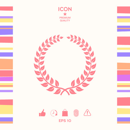 Laurel wreath - design symbol . Signs and symbols - graphic elements for your design Ilustracja
