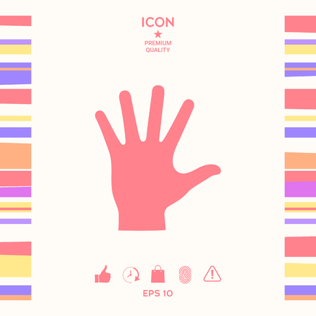 Helping hand silhouette- icon . Signs and symbols - graphic elements for your design