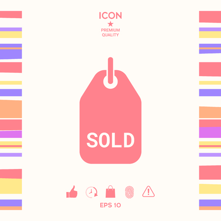 Sold tag . Signs and symbols - graphic elements for your design Illustration